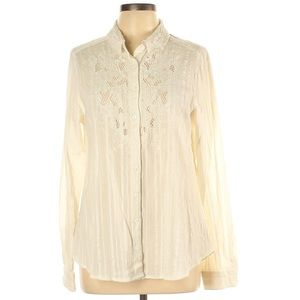 Free People Ivory Carter Donny Blouse
